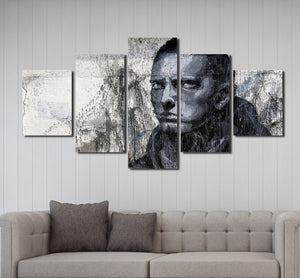 5 Panel Hip Hop Rap Boy Slim Shady Canvas Print Art-047 (2)