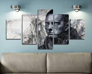5 Panel Hip Hop Rap Boy Slim Shady Canvas Print Art-047 (4)