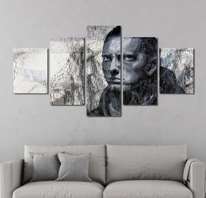 5 Panel Hip Hop Rap Boy Slim Shady Canvas Print Art-047 (5)