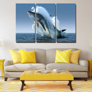 5 Panel Jaws Wall Art Canvas Painting Print Picture Poster Decor-115 (2)