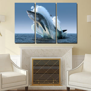 5 Panel Jaws Wall Art Canvas Painting Print Picture Poster Decor-115 (3)