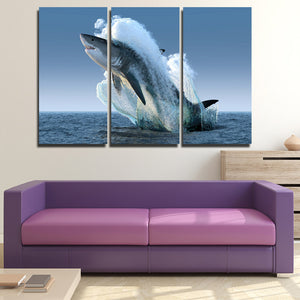 5 Panel Jaws Wall Art Canvas Painting Print Picture Poster Decor-115 (4)
