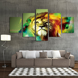 5 Panel Lion Canvas Wall Prints Picture Painting-031 (3)