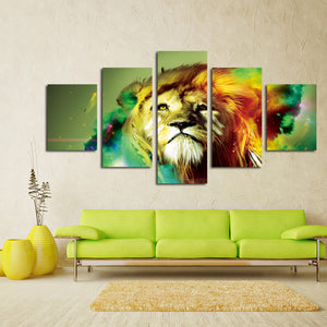 5 Panel Lion Canvas Wall Prints Picture Painting-031 (4)