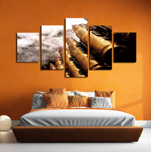 5 Panel Modern Painting Bullet Canvas Prints Picture-074 (1)