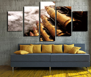 5 Panel Modern Painting Bullet Canvas Prints Picture-074 (2)