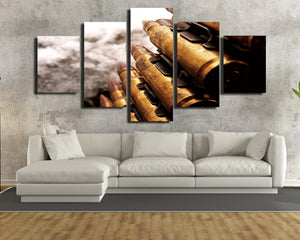 5 Panel Modern Painting Bullet Canvas Prints Picture-074 (4)