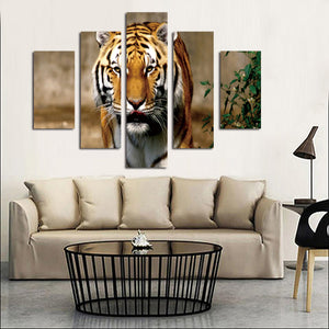 5 Panel Modern Prints Tiger Painting Canvas Wall Art -034 (2)