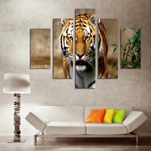 5 Panel Modern Prints Tiger Painting Canvas Wall Art -034 (4)
