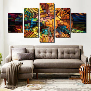 5 Panel Occult Symbol Painting Canvas Prints Wall Art-055 (1)