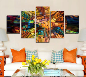 5 Panel Occult Symbol Painting Canvas Prints Wall Art-055 (2)