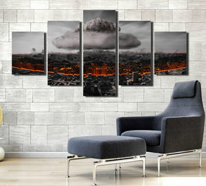 5 Panel Poster City Nuclear Explosion Print Picture-064 (4)