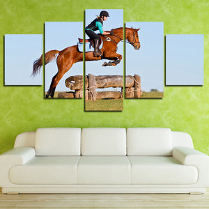 5 Panel Poster Horse Riding HD Canvas Print Painting Art Wall Decor-134 (3)