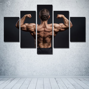 5 Panel Power Bodybuilder Fitness Motivational Art Canvas Prints Decor-095 (2)