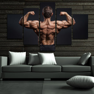 5 Panel Power Bodybuilder Fitness Motivational Art Canvas Prints Decor-095 (4)