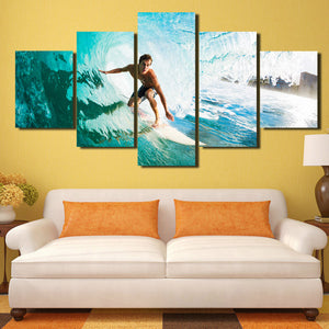 5 Panel Surfer Canvas Painting Print Picture Wall Art-106 (1)