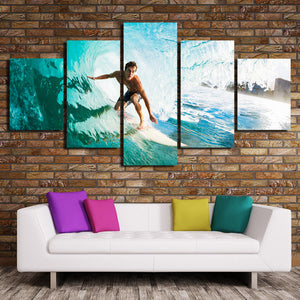 5 Panel Surfer Canvas Painting Print Picture Wall Art-106 (2)
