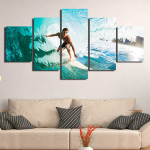 5 Panel Surfer Canvas Painting Print Picture Wall Art-106 (3)