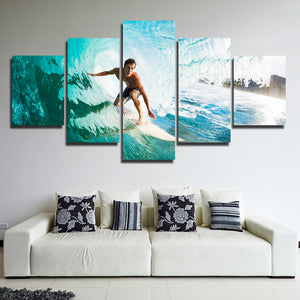 5 Panel Surfer Canvas Painting Print Picture Wall Art-106 (4)