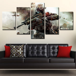 5 Piece Call of Duty Black Ops 2 Print Pianting Canvas Picture Wall Art-203 (1)