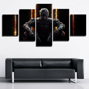 5 Piece Call of Duty Black Ops 3 Print Canvas Picture Wall Decor Art-204 (1)