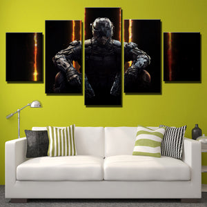 5 Piece Call of Duty Black Ops 3 Print Canvas Picture Wall Decor Art-204 (2)