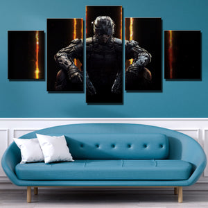 5 Piece Call of Duty Black Ops 3 Print Canvas Picture Wall Decor Art-204 (3)