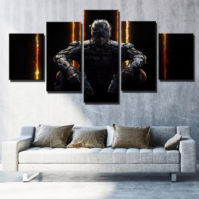 5 Piece Call of Duty Black Ops 3 Print Canvas Picture Wall Decor Art ...