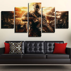 5 Piece Call of Duty Black Ops II Painting Art Canvas Print Wall Picture-202 (1)