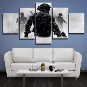 5 Piece Call of Duty MW3 Canvas Print Decor Painting Wall Art Picture-211 (1)