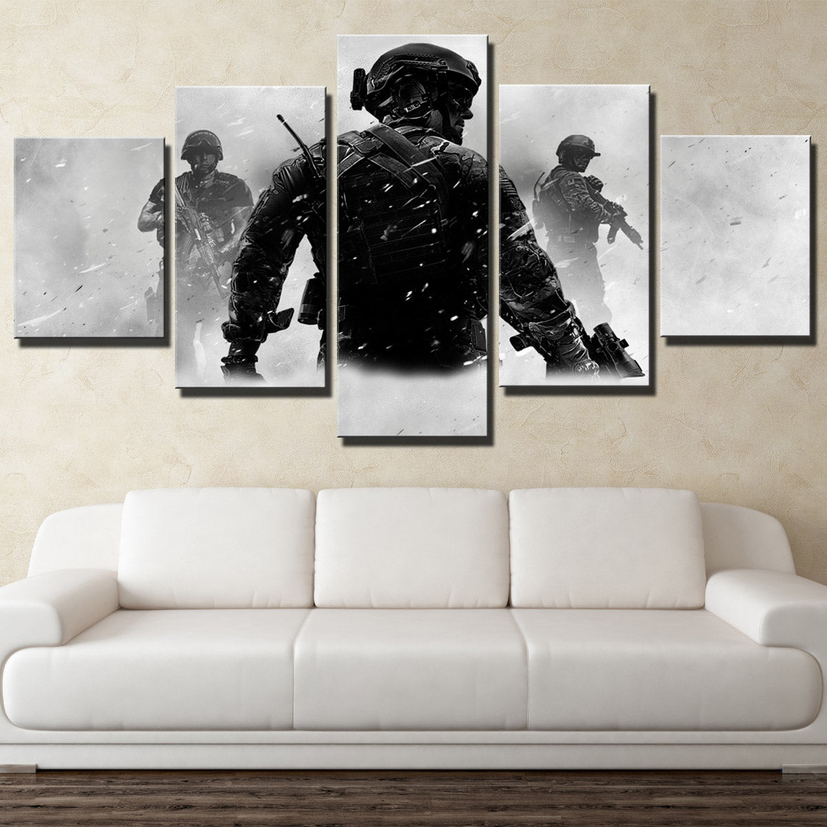 5 Piece Call Of Duty Mw3 Canvas Print Decor Painting Wall Art