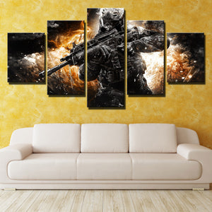 5 Piece Call of Duty MW3 Soldier Modern Canvas Art Print Picture Decor-205 (1)