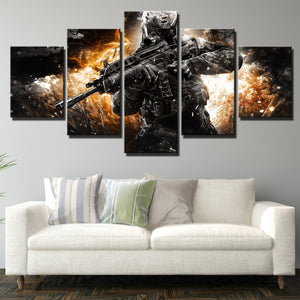 5 Piece Call of Duty MW3 Soldier Modern Canvas Art Print Picture Decor-205 (3)