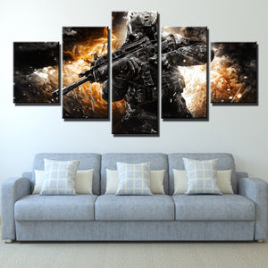 5 Piece Call of Duty MW3 Soldier Modern Canvas Art Print Picture Decor-205 (4)