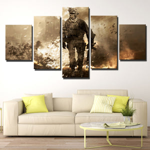 5 Piece Call of Duty Modern Warfare 2 Canvas Print Painting Wall Art-201 (1)