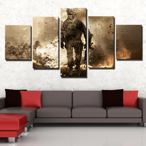 5 Piece Call of Duty Modern Warfare 2 Canvas Print Painting Wall Art-201 (2)