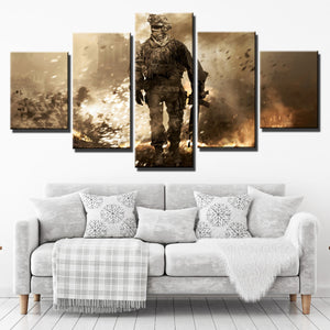 5 Piece Call of Duty Modern Warfare 2 Canvas Print Painting Wall Art-201 (3)