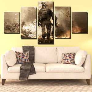 5 Piece Call of Duty Modern Warfare 2 Canvas Print Painting Wall Art-201 (4)