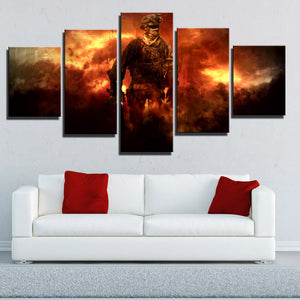 5 Piece Call of Duty Modern Warfare Soldier Canvas Print Art Poster Picture-206 (1)
