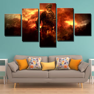 5 Piece Call of Duty Modern Warfare Soldier Canvas Print Art Poster Picture-206 (2)