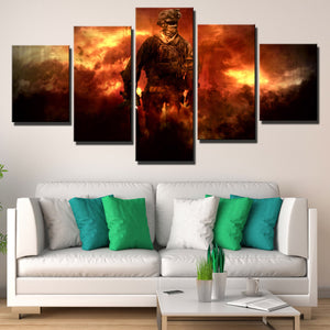 5 Piece Call of Duty Modern Warfare Soldier Canvas Print Art Poster Picture-206 (3)