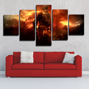 5 Piece Call of Duty Modern Warfare Soldier Canvas Print Art Poster Picture-206 (4)