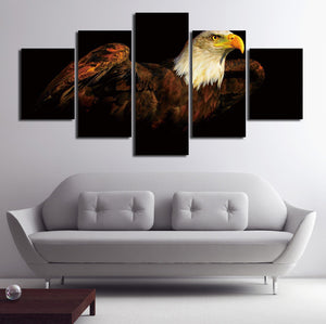 5 Piece The Bald Eagle Canvas Prints Painting-070 (1)