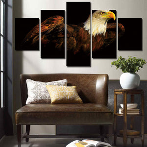 5 Piece The Bald Eagle Canvas Prints Painting-070 (2)