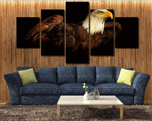 5 Piece The Bald Eagle Canvas Prints Painting-070 (3)