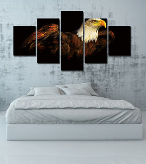 5 Piece The Bald Eagle Canvas Prints Painting-070 (4)
