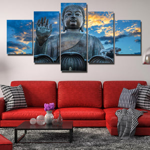 Budda Canvas Prints 5 Panel Modern Landscape Decor-112 (2)