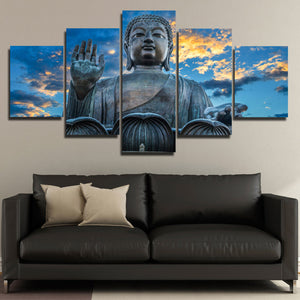 Budda Canvas Prints 5 Panel Modern Landscape Decor-112 (3)