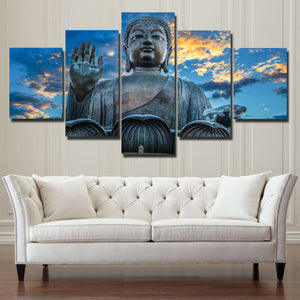 Budda Canvas Prints 5 Panel Modern Landscape Decor-112 (4)