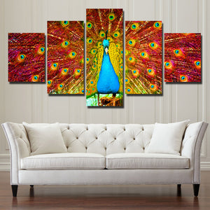 Canvas Prints Home Decor Painting 5 Panel Peacock Animal Wall Art-113 (3)